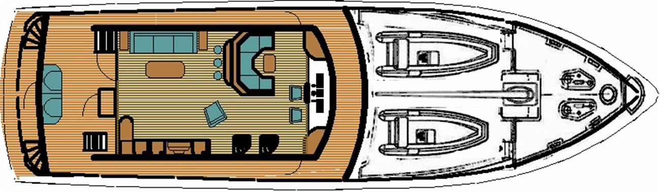 Ruby Expedition 65 House Aft Main Deck w/Master Stateroom