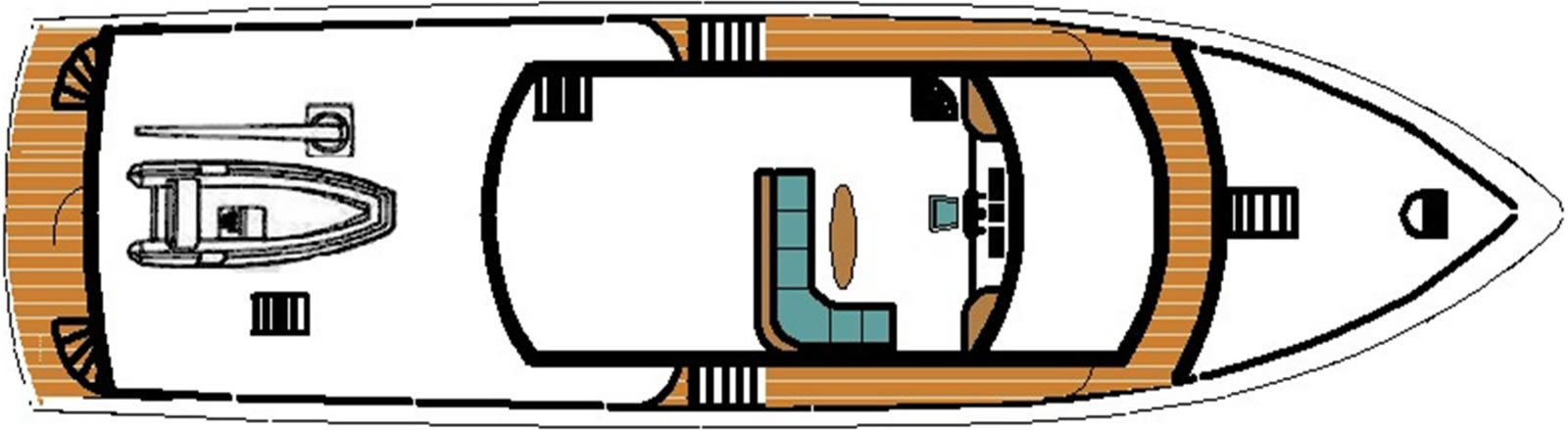 Ruby Expedition 80 House Forward Flybridge Deck