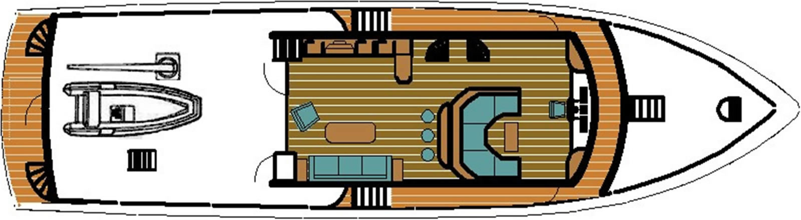 Ruby Expedition 80 House Forward Pilothouse Deck