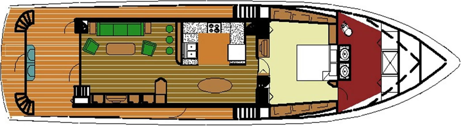 Ruby Expedition 80 House Forward Main Deck w/Master Stateroom